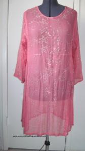 Pink chiffon kurta