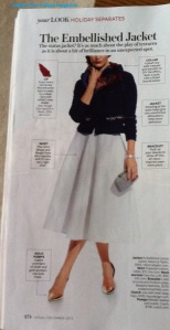 New skirt length in 2014. Image from InStyle magazine