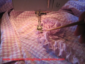 Sew rosette