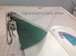 Folded Triangle bag by Nancy Shriber