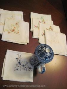 Finished tea napkins
