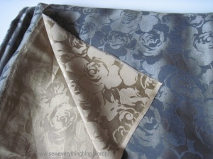 Double sided silk