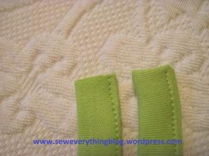 Sewn edges