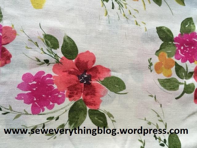 Flowered linen