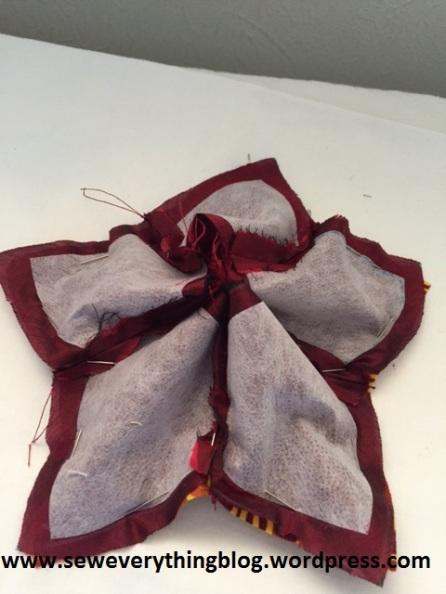 Drawstring tiny bag on the back