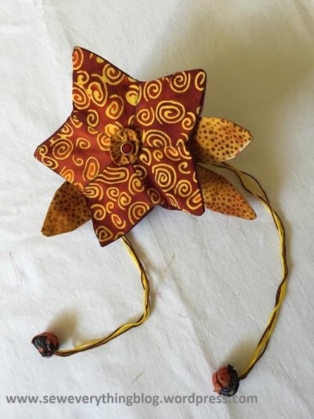 Front: petals sewn together