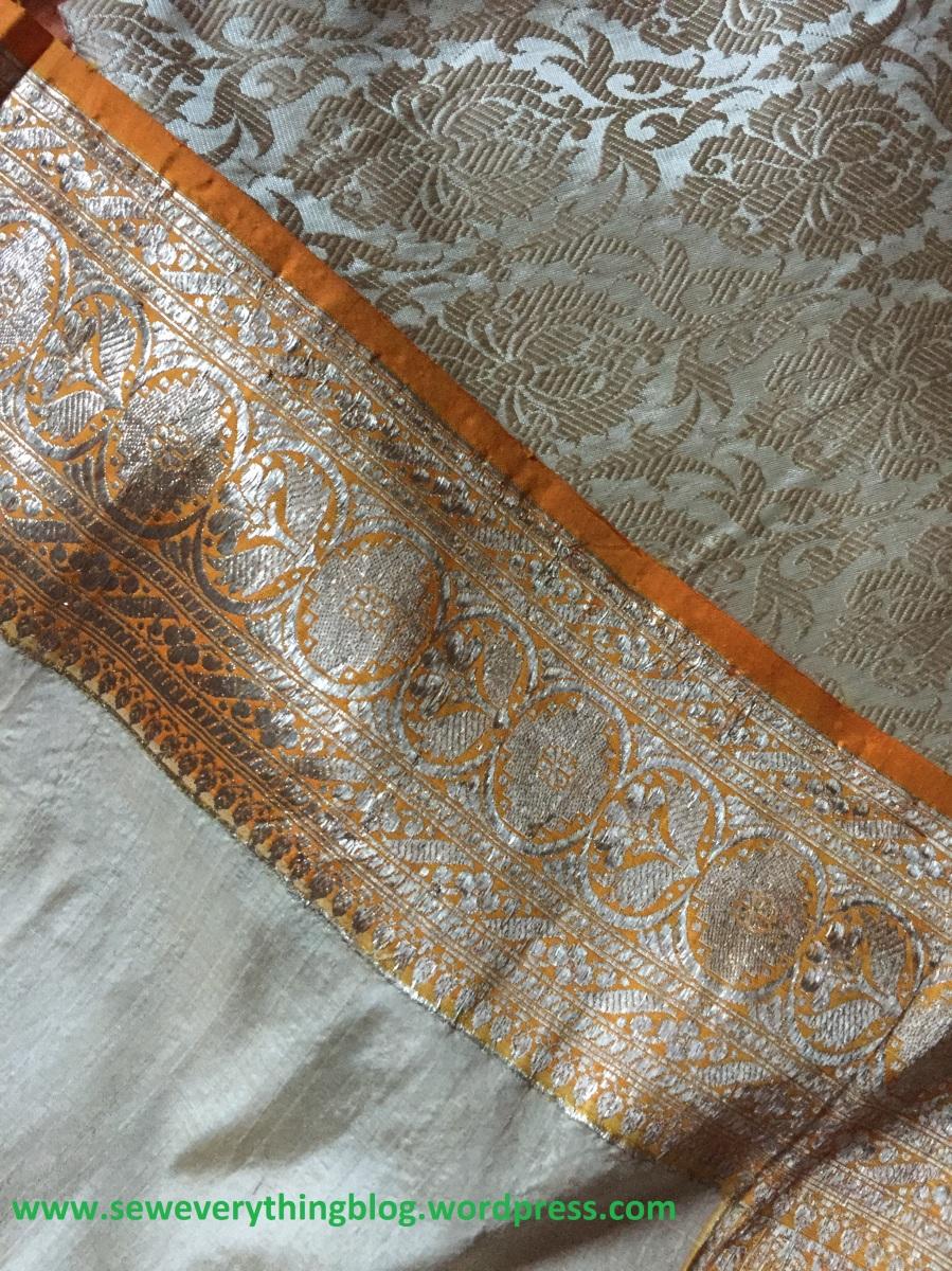sari and blouse fabric