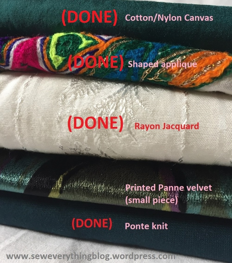 fabric pile done