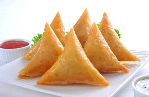 Delicious and yummy vege Samosa