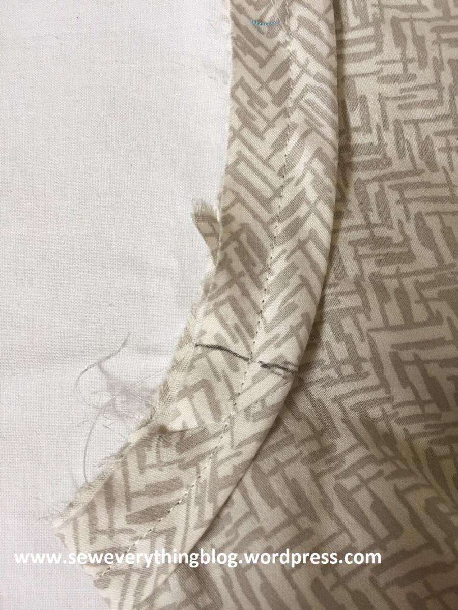 sewn unturned